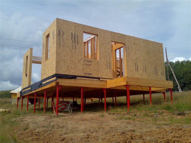 Дом из sip панели и фундамент под него - пример